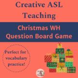 ASL Winter Holiday WH Question Board Game - ASL, ESL, Deaf/HH