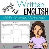 ASL: WH questions worksheet