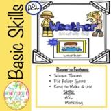 ASL Weather Match-Up File Folder Game