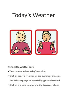 ASL Weather Signs (American Sign Language)