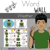 ASL Weather Word Wall