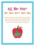 ASL Wh- Bingo