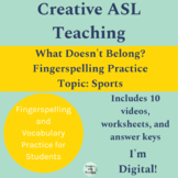 ASL What Doesn't Belong? Sports