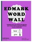 ASL Word Wall Edmark  Level 1 Vocabulary