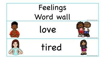 ASL: Word Wall- Feelings