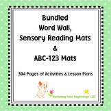 American Sign Language (ASL) Word Wall, Sensory Reading and ABC-123 Mats Bundled
