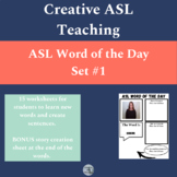 ASL Word of the Day Set #1