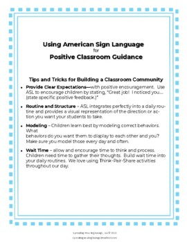 ASL Signs for Classroom Management