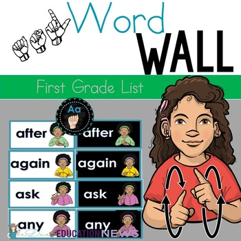 ASL word wall-1st grade