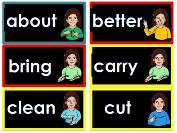 ASL word wall-3rd grade