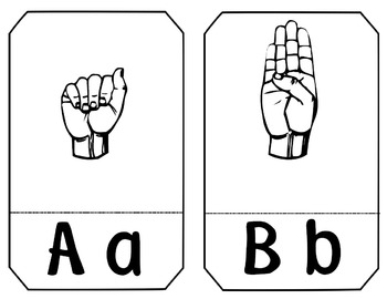 ASL (American Sign Language) ~Alphabet and Number Cards (Flash Cards)