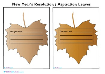 ASPIRATIONS / NEW YEAR'S RESOLUTION