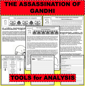 ASSASSINATION OF GANDHI Eyewitness Accounts & Reading Comprehension