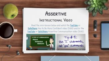 ASSERTIVENESS Activities: 5 Writing Prompts