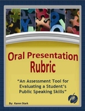 "ASSESSMENTS:  ""Oral/Speech Presentation Rubric for Student"
