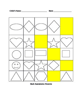 Preschool Assessment Packet...A Year Long Collection of Evaluations!