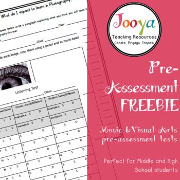 ASSESSMENT - Pre-Assessment Freebie