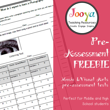 ASSESSMENT - Pre-Assessment Freebie