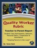 "ASSESSMENTS: Quality Worker Rubric - ""Behind the Scenes Re"