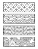 ASSORTED COLORING BOOKMARKS, ZENTANGLE GEOMETRIC ANIMAL PR