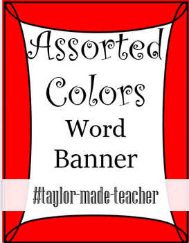 ASSORTED COLORS Wordname Banner Editable PPT Template TpT - Name banner template