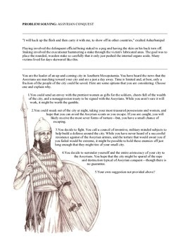 ASSYRIAN CONQUEST ACTIVITY