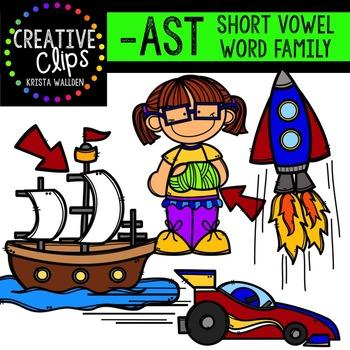 AST Short A Word Family {Creative Clips Digital Clipart}