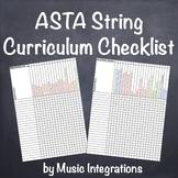 ASTA String Curriculum Checklist for Orchestra