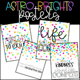 ASTROBRIGHT COLORS CONFETTI THEMED POSTERS