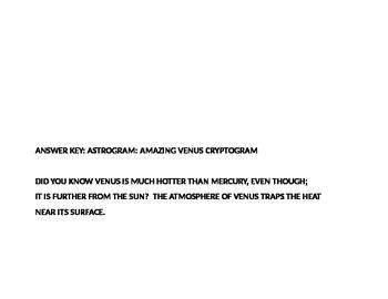 ASTROGRAM #3 AMAZING VENUS CRYPTOGRAM