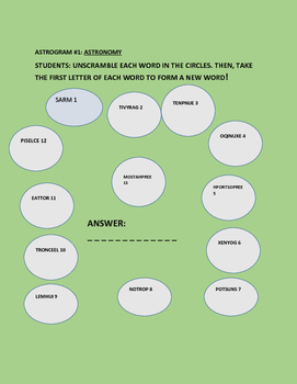 ASTROGRAM: ASTRONOMY GRADES 3-7