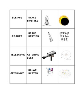 ASTRONOMY WORD MATCH TILE GAME: GRADES 3-6