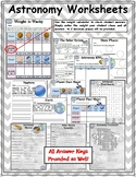 ASTRONOMY WORKSHEETS (ACTIVITY SHEETS)