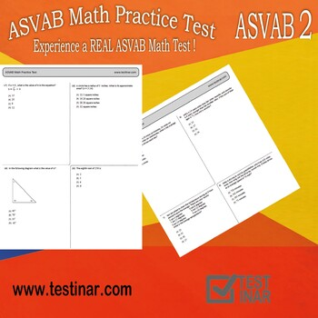 ASVAB Arithmetic Reasoning and Mathematics Knowledge (P&P) Practice Test - 2