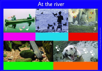 AT THE RIVER: A3 Phonics Poster and  Matching Board. End of Phase 3  Sentences.