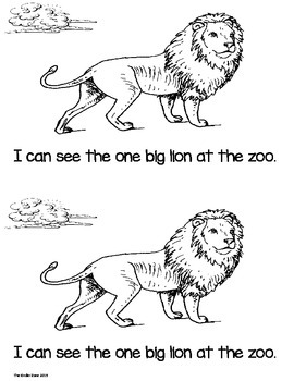 AT THE ZOO .. WHAT DO YOU SEE? EMERGENT READER BOOK * READ TO SELF!