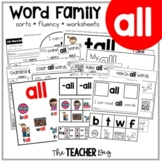 ALL Word Family Activities