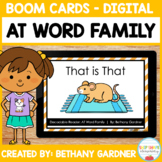 AT Word Family - Decodable Reader - Boom Cards - Interactive
