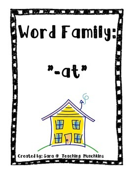 """AT"" Word Family House"