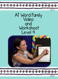 AT Word Family: Video and Worksheet, Level 4