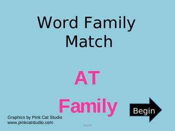AT Word Family Powerpoint Game