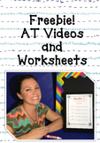 AT Word Family: Video and Worksheet Set, Levels 1 to 4