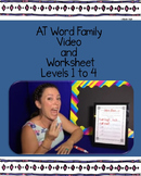 AT Word Family: Videos and Worksheet Set, Levels 1-4