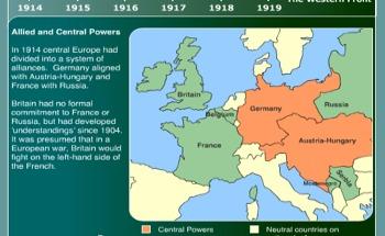 AT4S (2) - Map Activity - World War I - US History & Geography