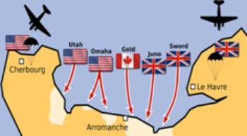 AT4S (4) - Map Activity - WWII (D-Day & Operation Torch) US History Dday Map on