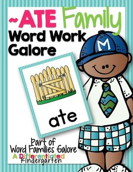 ATE Word Family Word Work Galore-Differentiated and Aligned