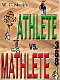 ATHLETE OR MATHLETE & DOUBLE DRIBBLE by W. C. Mack, Books 1 and 2!