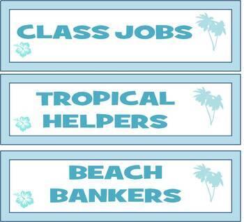 Class Incentives, Reward System, ATM Tropical Beach Theme, Class Jobs