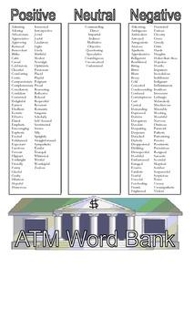 ATM Word Bank (Atmosphere, Tone, Mood)