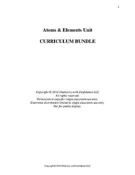 Atoms & Elements Unit - CURRICULUM BUNDLE